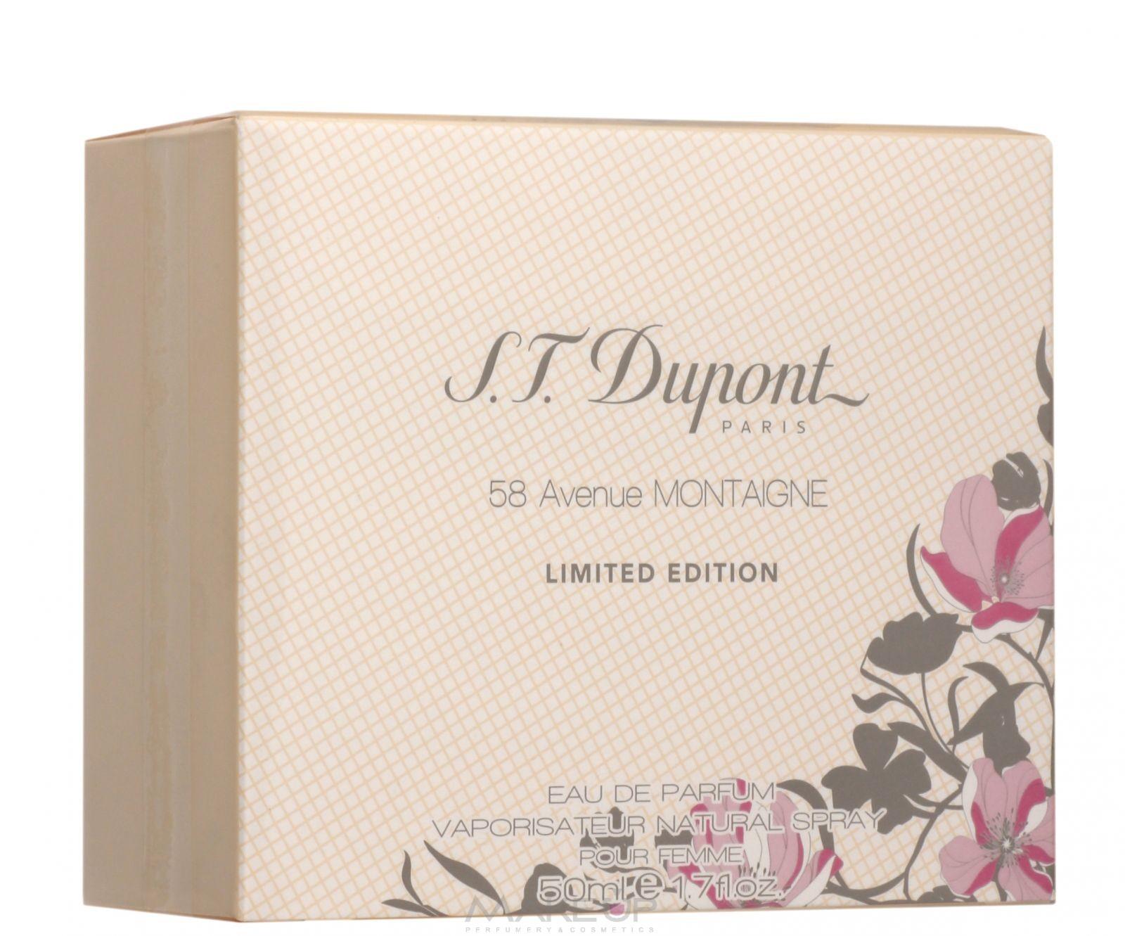Парфюмерия S.T.Dupont 58 Avenue Montaigne Pour Femme Limited ...