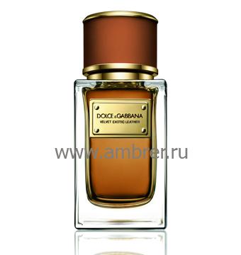Dolce & Gabbana Velvet Exotic Leather